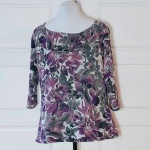 MARISE PETITE Floral print sweater
